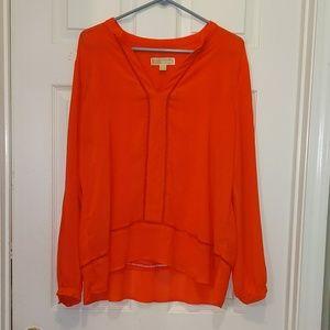 Michael Michael Kors orange blouse Sz XL NWOT